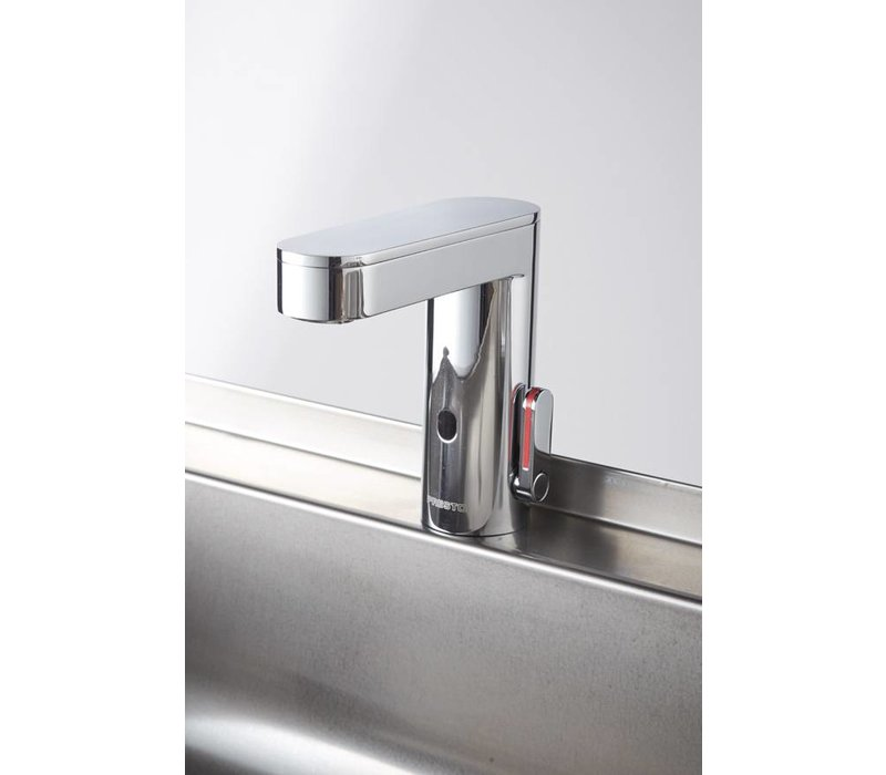 Sofinor Stainless Steel Double Sink | 2 Electronic Faucets | Temperature | 120x425x255 mm