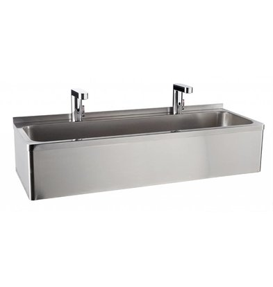 Sofinor Stainless steel sink Double | 2 Electronic Cranes Temperature control 1200x425x255 mm