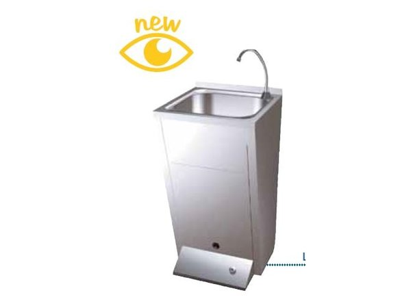 Sofinor Stainless Steel Sink | Foot Operation | with Afvalbak | Premix Hot / Cold | 450x450x (H) 900mm
