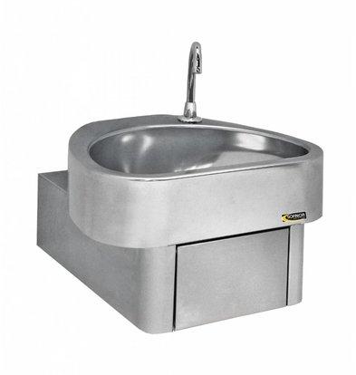 Sofinor Edelstahl Handwaschbecken | Knieoperation | CLINIUM | Krankenhaus-Modell | 460x436x (H) 270mm