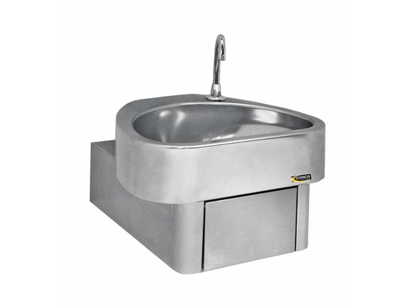 Sofinor Stainless Steel Hand sink | Knee Operation | CLINIUM | Hospital Model | 460x436x (H) 270mm