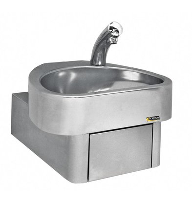 Sofinor RVS Handwasbak | Elektronisch | Clinium | 460x436x(H)270 mm