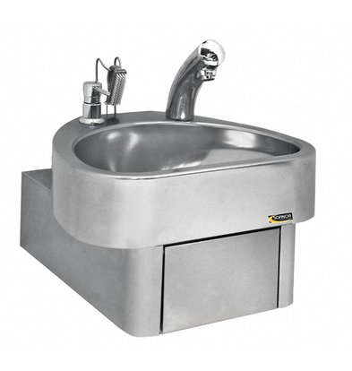 Sofinor Edelstahl Handwaschbecken | electronic | CLINIUM | Deluxe | 460x436x270mm