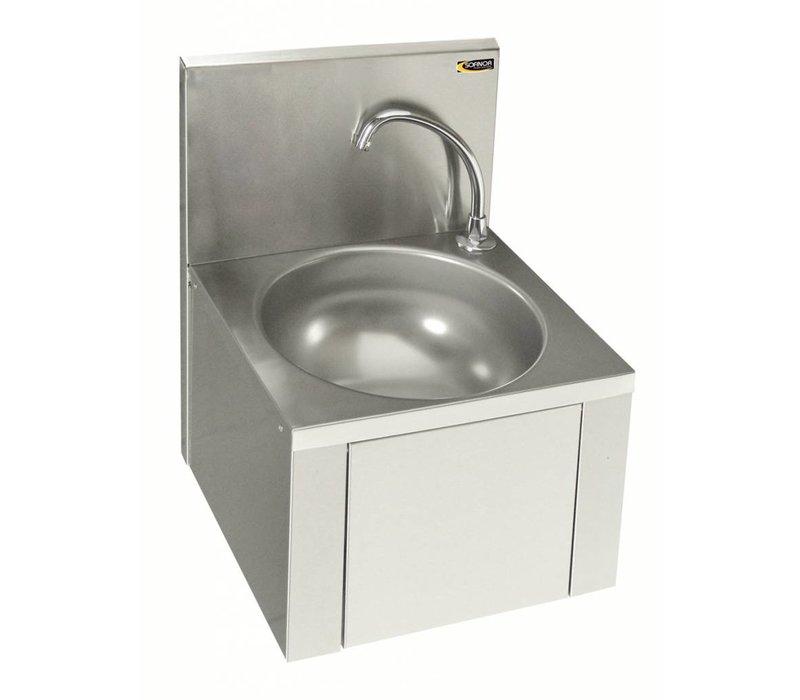 Edelstahl Waschbecken edelstahl waschbecken mit knie bedienung ohne für mixer