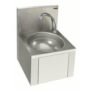 Sofinor Edelstahl-Waschbecken | Knie-Bedienung | Für Mixer | Low Water | 384x353x (H) 524 mm