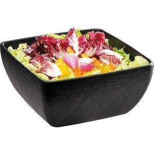 APS Slate Look Bowl | Black | 3.8 Liter | Melamine | 25x25x (H) 12cm