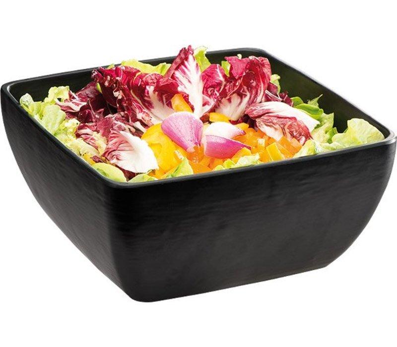 APS Slate Look Bowl   Black   3.8 Liter   Melamine   25x25x (H) 12cm