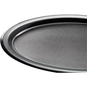 APS Servierplatte Black | Melamin | Stapelbar | 28,5x21,5x (H) 1,5 cm