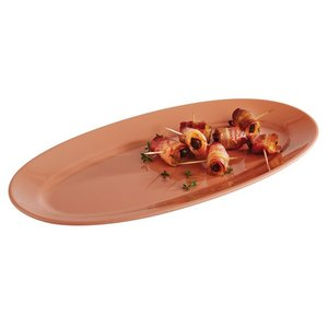 APS Scale Oval | Terracotta | Tierra | Melamine | Stackable | 40x20x (H) 2.5cm