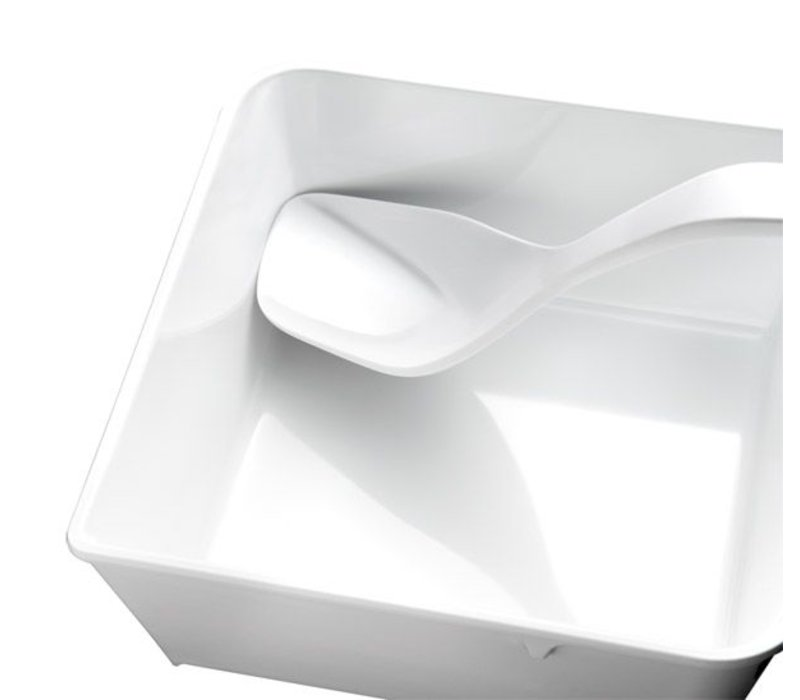 APS Servierlöffel Weiß | Fusion | Melamin | 7x6,5x26,5cm