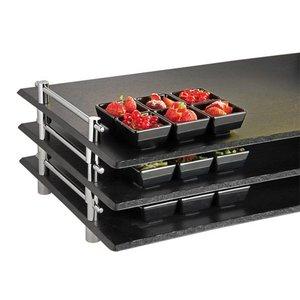 APS Serveerschaal Stapelbaar Leisteen | 1/1GN | Melamine | 53x32,5x(H)6cm