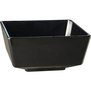 APS Amuse Finger Bowl | Black | Melamine | Stackable | 9x9x (H) 4.5cm
