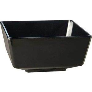 APS Amuse Finger Bowl | Black | Melamine | Stackable | 9x9x (H) 4.5cm
