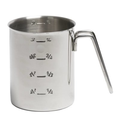XXLselect Measuring cup stainless steel - Scale indication Ø 10.5 x (H) 14cm - 1 Liter