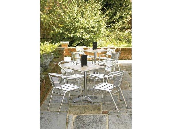 Bolero Platz Bistro Table - Aluminiumrahmen - mit Asche Tabletop - 72 (h) x60x60cm