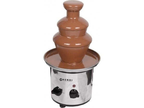 Hendi Chocolate Fountain Stainless Steel - with Keep warm function - for 700 g chocolate - 390 (H) x210ø