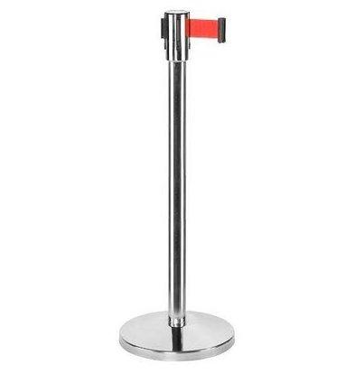 Saro Sperrpfosten Chrome 9 kg - mit roten Kordel 180cm