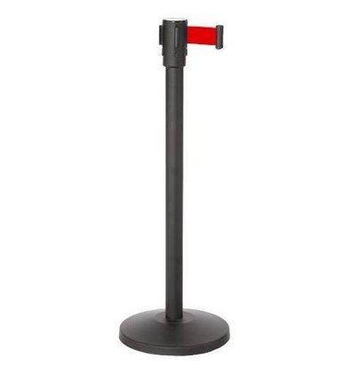Saro Barrier post Black 9kg - with Red drawstring 180cm