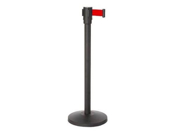 Saro Afzetpaal Zwart 9 kg - met Rood trekband 180cm