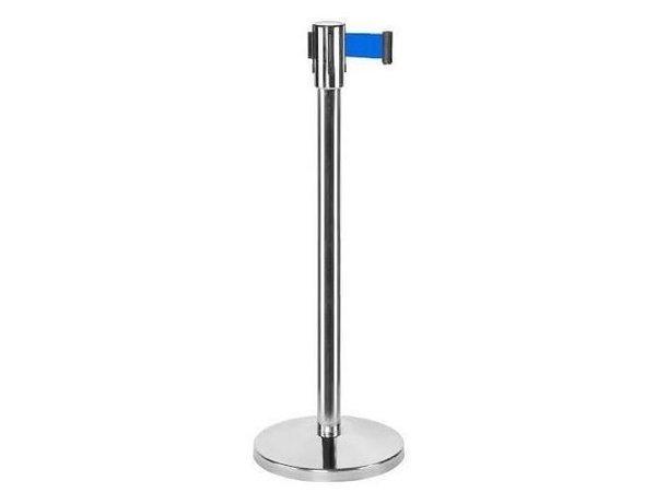 Saro Barrier post Chrome 9 kg - with blue drawstring 180cm
