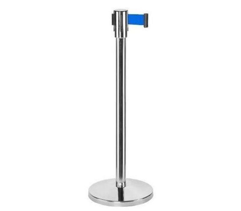 Saro Sperrpfosten Chrome 9 kg - mit blauer Kordel 180cm