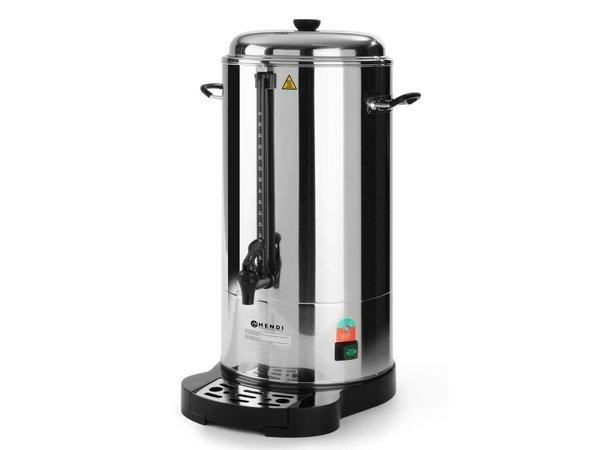 Hendi Percolator Dubbelwandig RVS | Met Kopjesstandaard | 100 Kopjes | 15 Liter | BEST GETEST!
