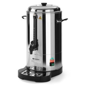 Hendi Double walled stainless steel percolator | With cup Standard | Ø288x (H) 530mm | 78 Cups | 10 liter