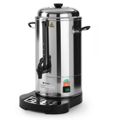 Hendi Percolator Stainless Steel Jacketed | With cup Standard | Ø241x (H) 480mm | 40 Cups | 6 Liter