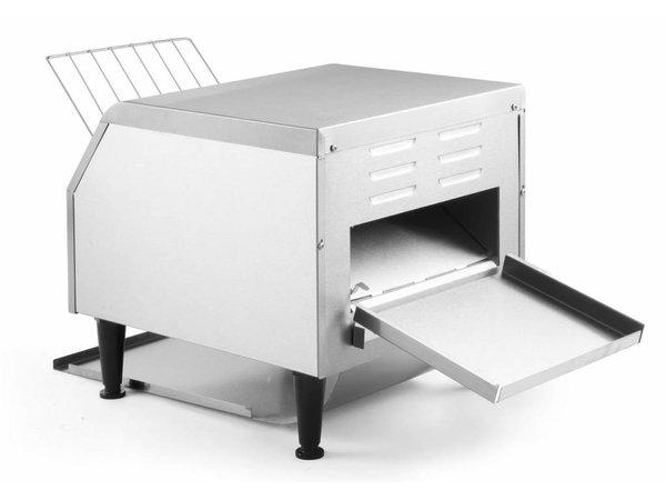 Hendi Doorloop broodrooster | XXL 150 sneetjes per uur - RVS - 41,8x36,8x(H)38,7 cm - 2240W