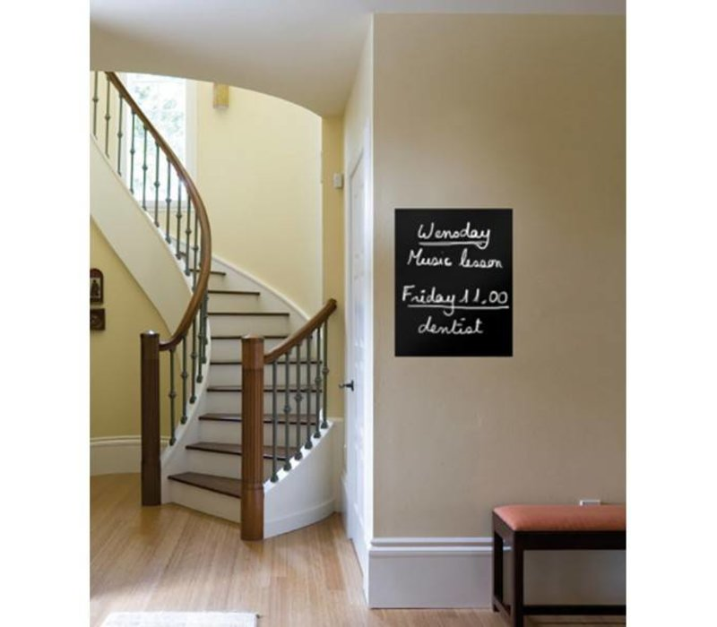 Securit Silhouette Wall Chalkboard Square Incl. Chalk Stift