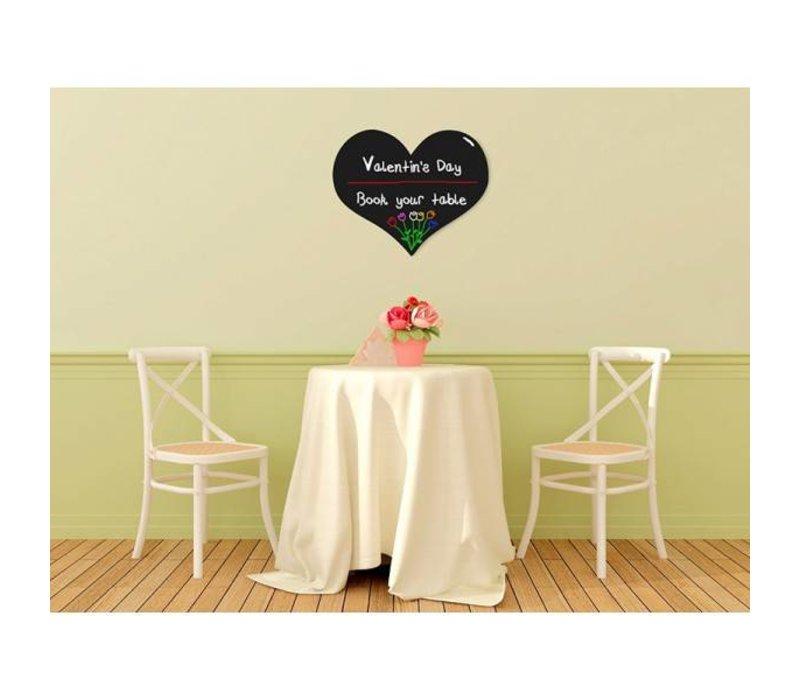 Securit Silhouette Wall Chalkboard Heart Incl. Chalk Stift