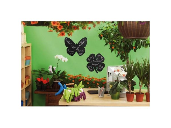 Securit Silhouette Wall Chalkboard Cloverleaf Incl. Chalk Stift