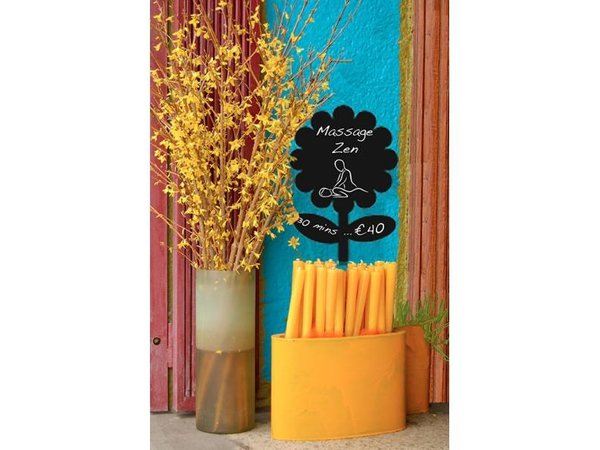 Securit Silhouette Wand Tafel Blumen Inkl. Chalk Stift