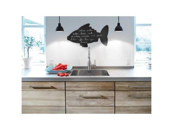 Securit Silhouette Wall Chalkboard Fish Incl. Chalk Stift
