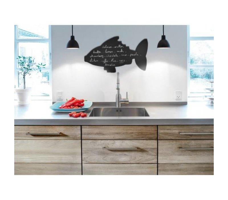 Securit Silhouette Wand Tafel Fisch Inkl. Chalk Stift