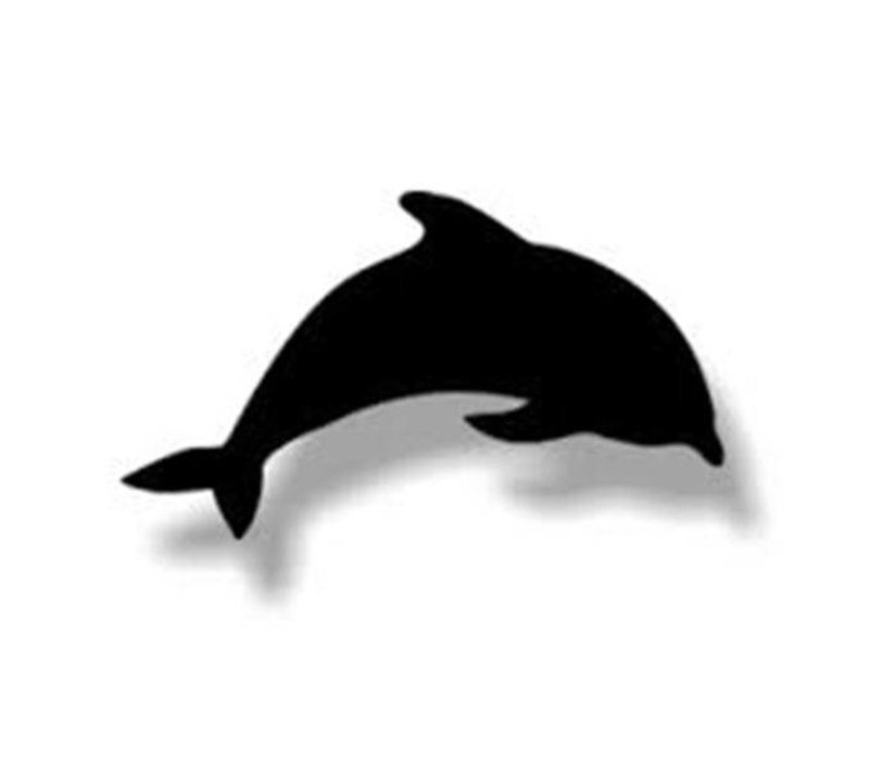 Securit Silhouette Wand Tafel Dolphin Inkl. Chalk Stift