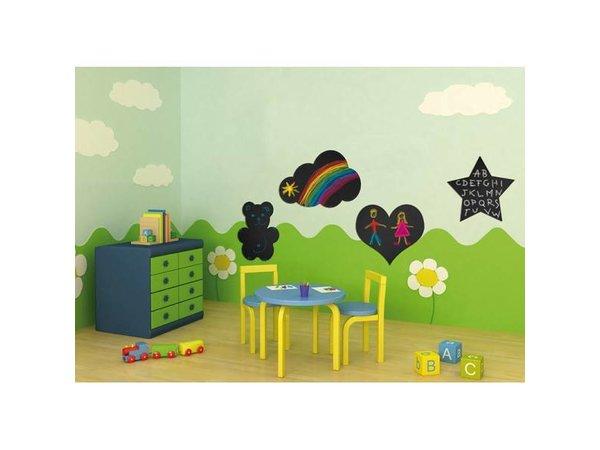 Securit Silhouette Wall Chalkboard Cloud Incl. Chalk Stift
