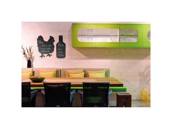 Securit Silhouette Wall Chalkboard Chicken Incl. Chalk Stift