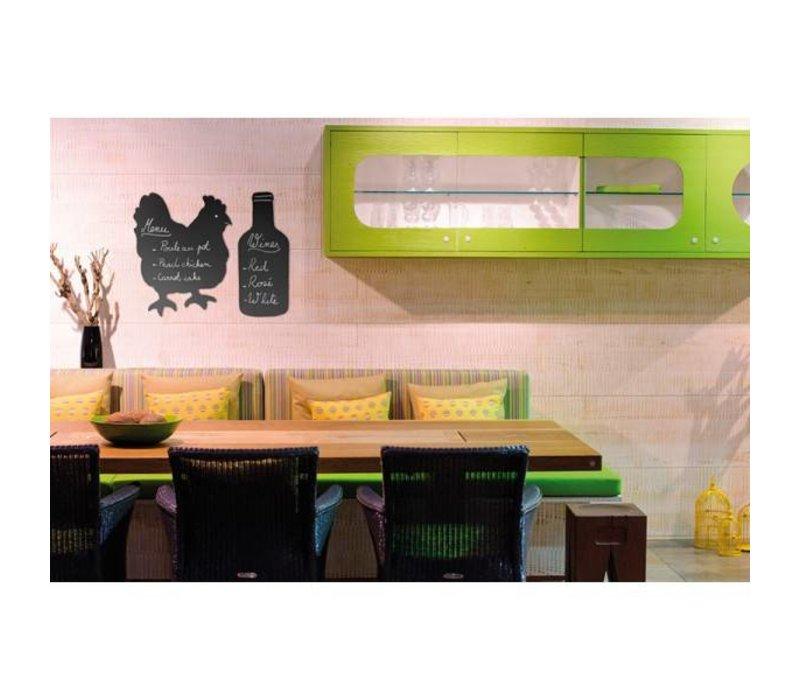 securit silhouette wand tafel huhn inkl chalk stift. Black Bedroom Furniture Sets. Home Design Ideas