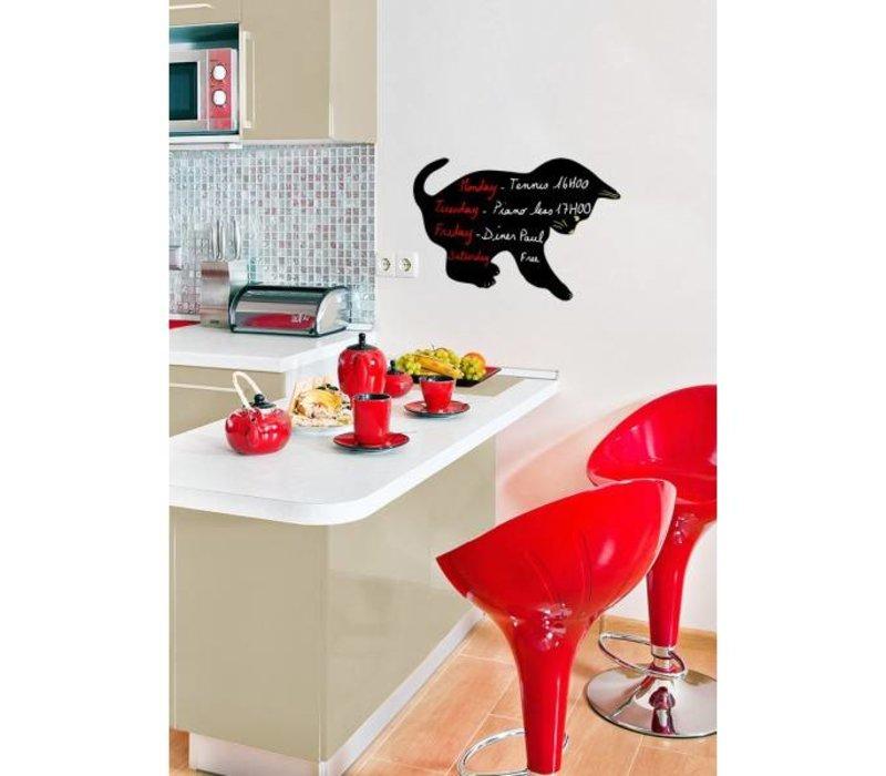 Securit Silhouette Wand Tafel Cat Inkl. Chalk Stift