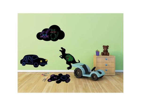 Securit Silhouette Wall Chalkboard Car Incl. Chalk Stift