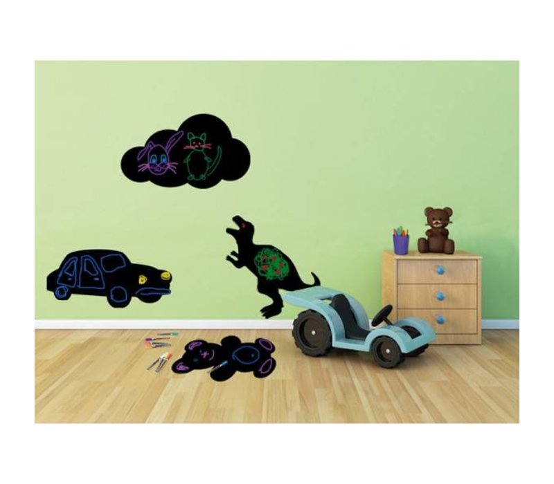 Securit Silhouette Wand Tafel Auto Inkl. Chalk Stift