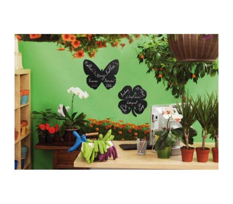 Securit Silhouette Wand Tafel Schmetterling Inkl. Chalk Stift