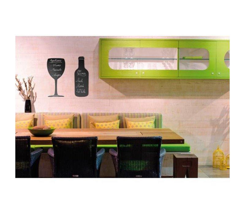 securit silhouette wand tafel flasche inkl chalk stift. Black Bedroom Furniture Sets. Home Design Ideas