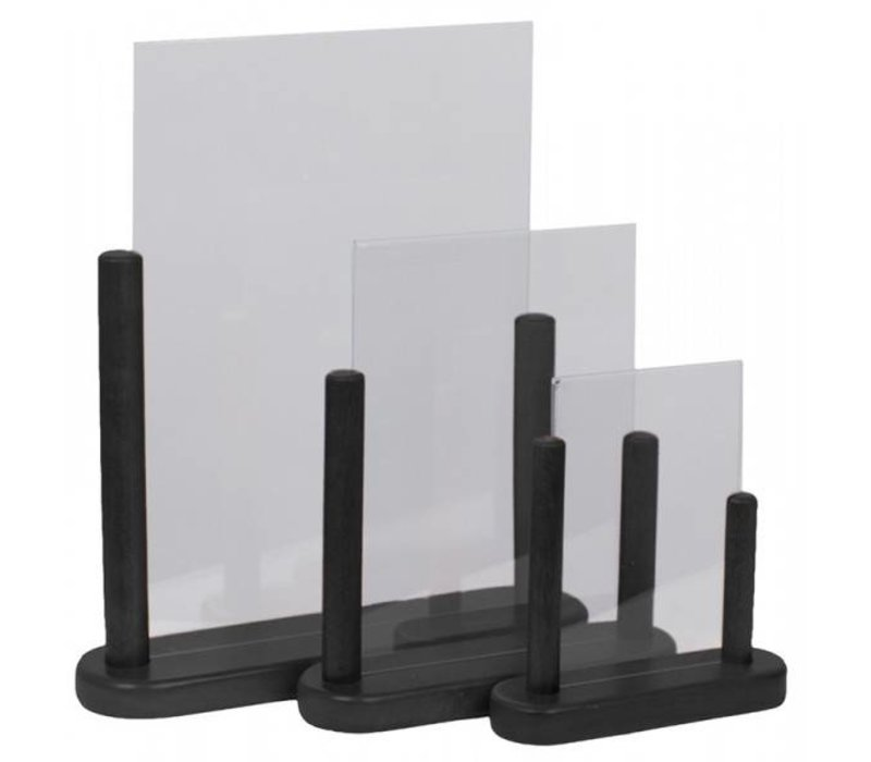 Securit Tabelle Plakat-Anzeige Schwarz - 3 Größen