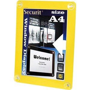 Securit Fenster Plakatanzeige Gelb A4