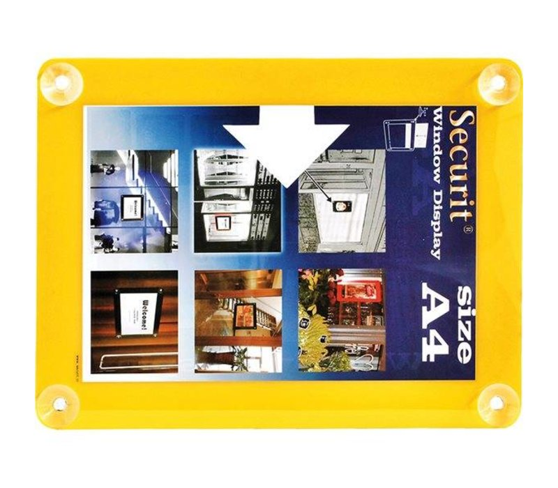 Securit Window poster display Yellow A4