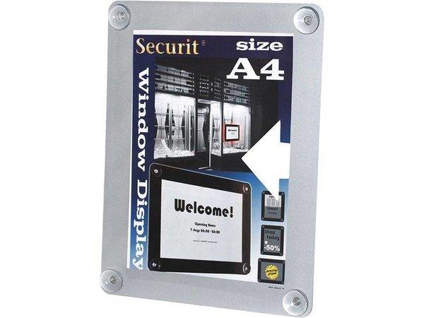 Securit Raam poster display Grijs A4