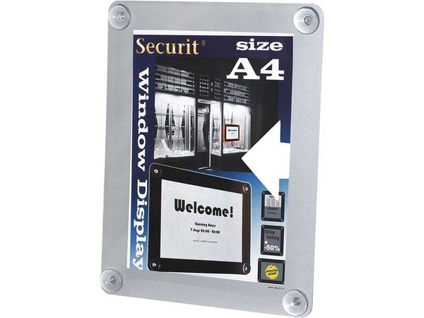 Securit Window poster display Red A4