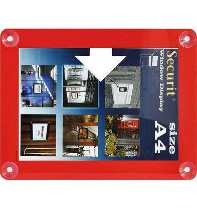 Securit Raam poster display Rood A4